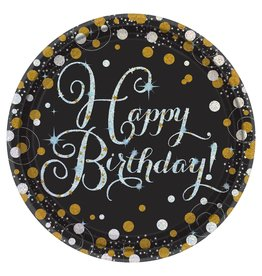 "Amscan Sparkling Celebration 9"" Plate - 8ct."