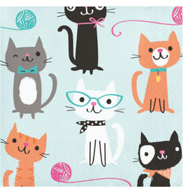 Party Creations Purr-Fect Party Bev. Napkins - 16ct.