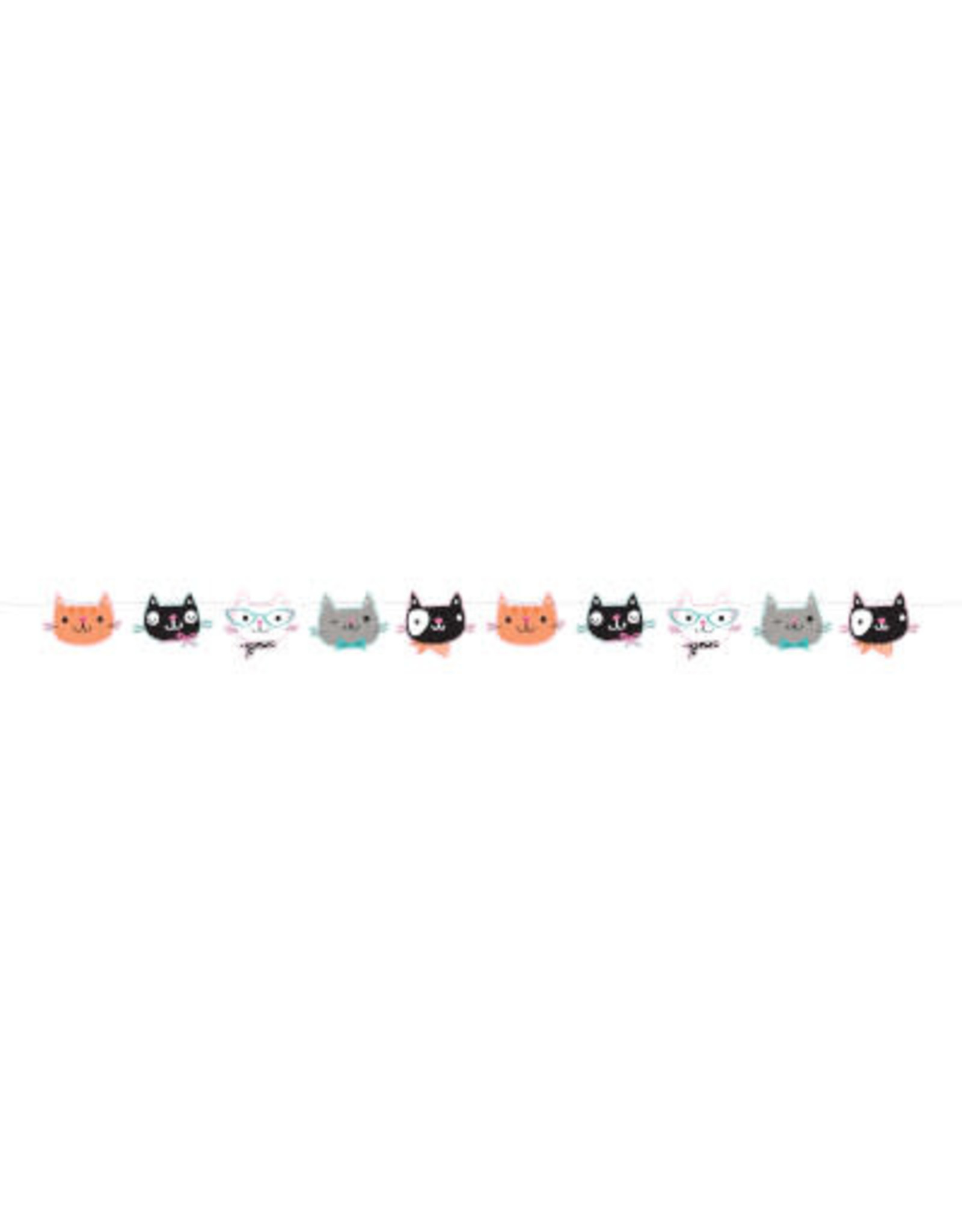 creative converting Purr-Fect Party Ribbon Banner - 5.5ft.