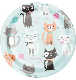 "Party Creations Purr-Fect Party 7"" Plates - 8ct."