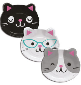 "Party Creations Purr-Fect Party Shaped 9"" Plates"