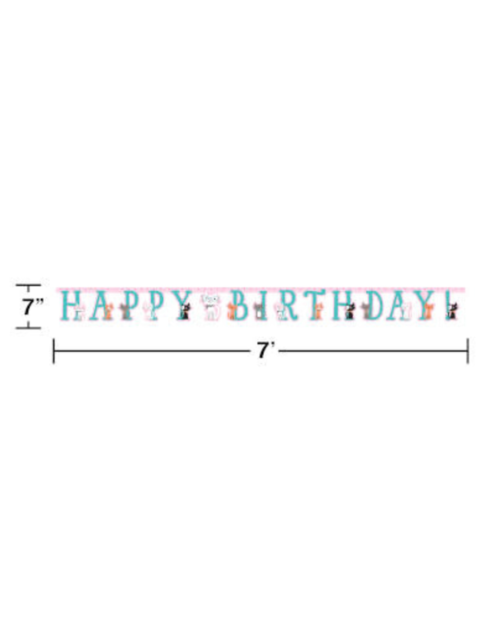 creative converting Purr-Fect Party Jointed Banner - 10ft.