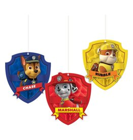 Amscan Paw Patrol Honeycomb Decorations - 3ct.
