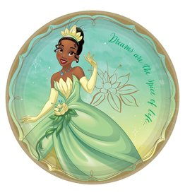 "Amscan Disney Princess Tiana 9"" Plate - 8ct."