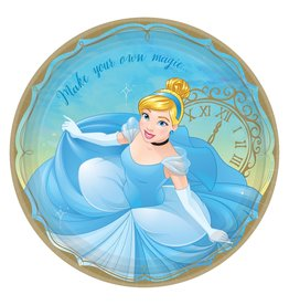 "Amscan Disney Princess Cinderella  9"" Plates - 8ct."