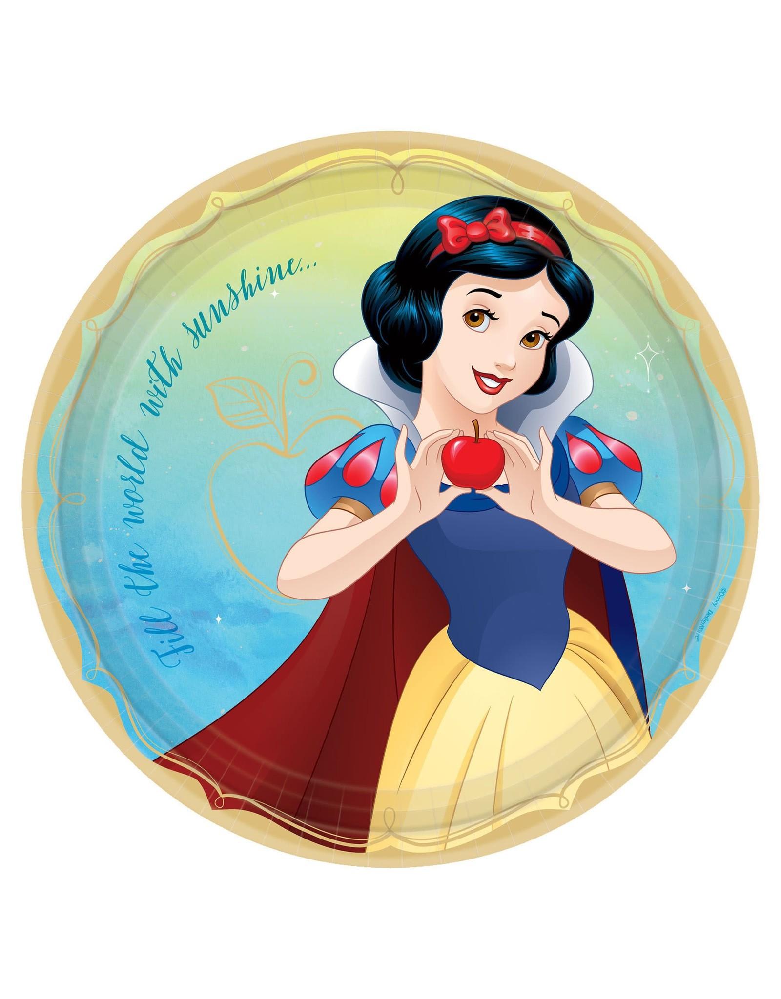 "Amscan Disney Princess Snow White 9"" Plates - 8ct."