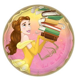 "Amscan Disney Princess Belle 9"" Plates - 8ct."