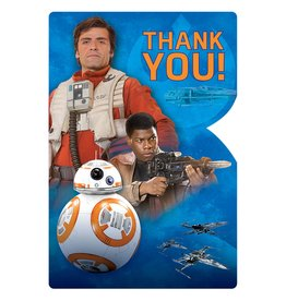 Amscan Star Wars Ep.7 Thank You's - 8ct.