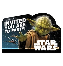 Amscan Star Wars Classic Invite - 8ct.