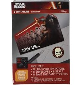 Amscan Star Wars Ep.7 Invite - 8ct.