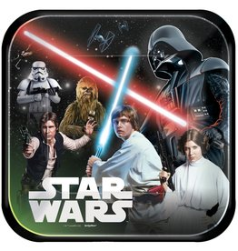 "Amscan Star Wars Classic 9"" Plate - 8ct."