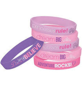 Amscan Disney Princess Rubber Bracelets - 6ct.