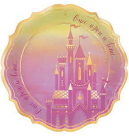 "Amscan Disney Princess 10.5"" Shaped Plates - 8ct."