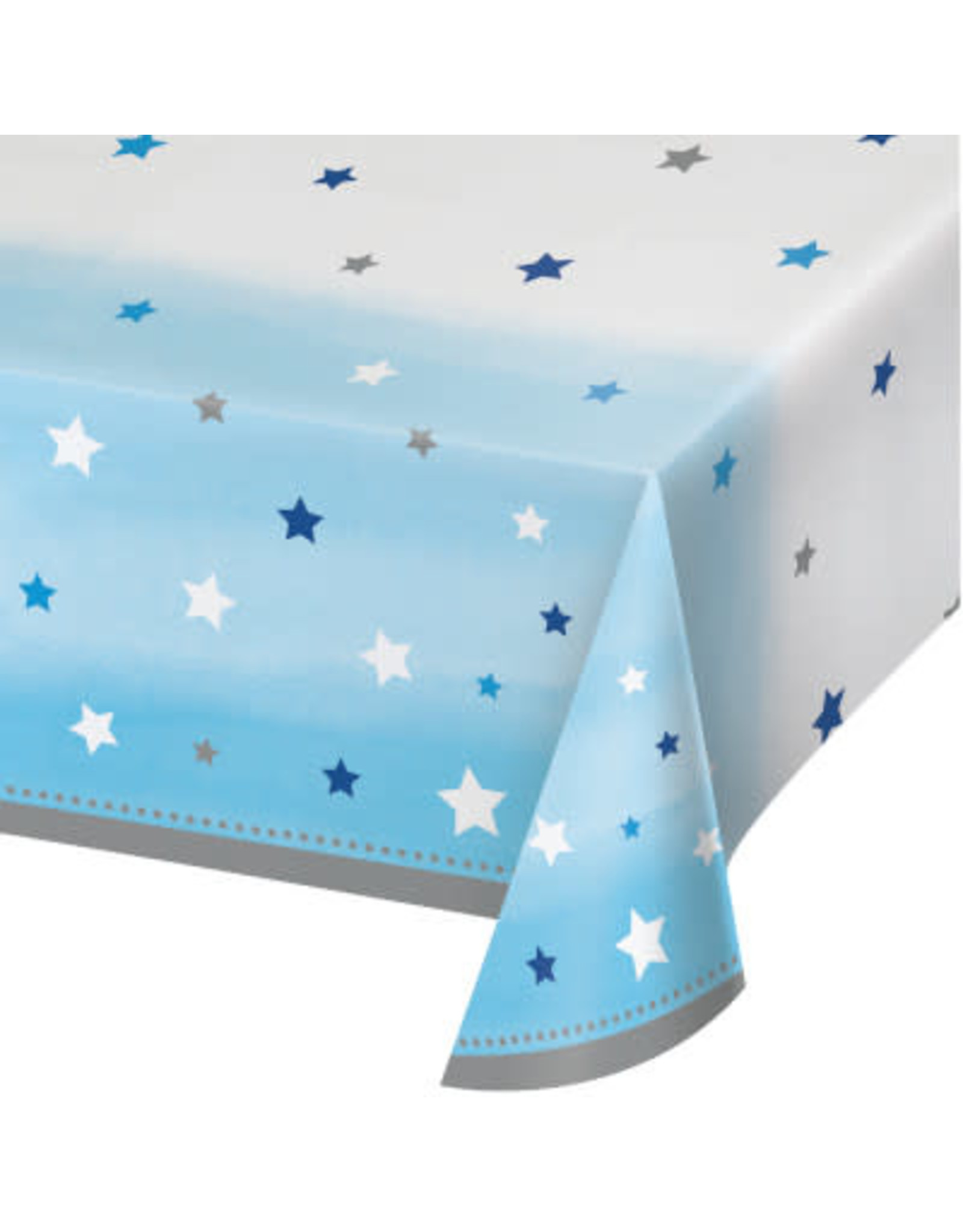 "Party Creations One Little Star - Boy Tablecover (54"" x 102"")"