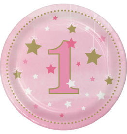 "Party Creations One Little Star - Girl  7"" Plate - 8ct."