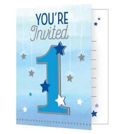 Party Creations One Little Star - Boy Invites - 8ct.