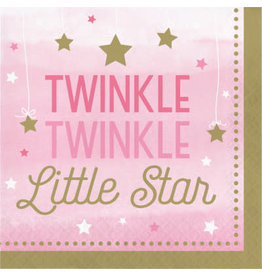 Party Creations One Little Star - Girl Twinkle Lun. Napkins - 16ct.