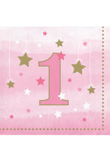 Party Creations One Little Star - Girl Bev. Napkins - 16ct.