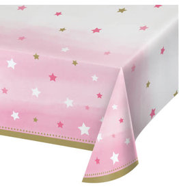 "Party Creations One Little Star - Girl Tablecover (54"" x 102"")"