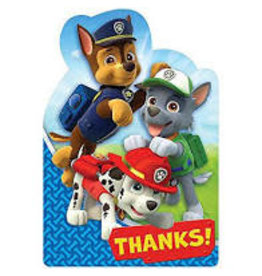 Amscan Paw Patrol Thank you's - 8ct.