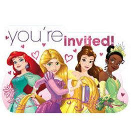 Amscan Disney Princess Invites - 8ct.