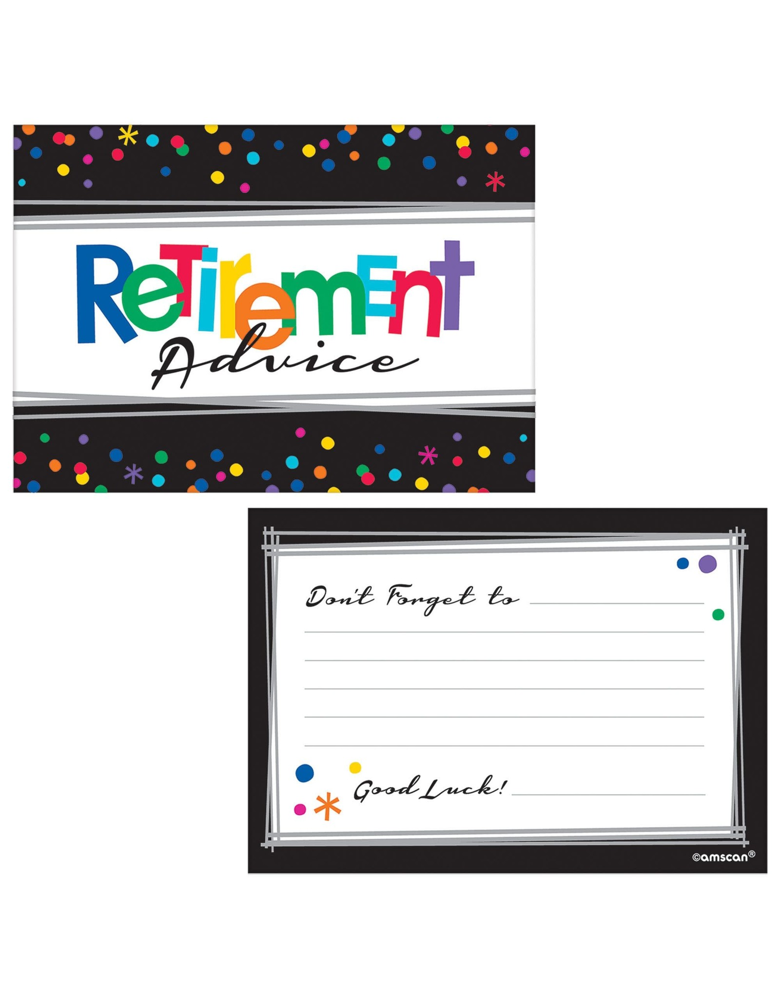 Amscan Officially Retired Advice Cards - 24ct.