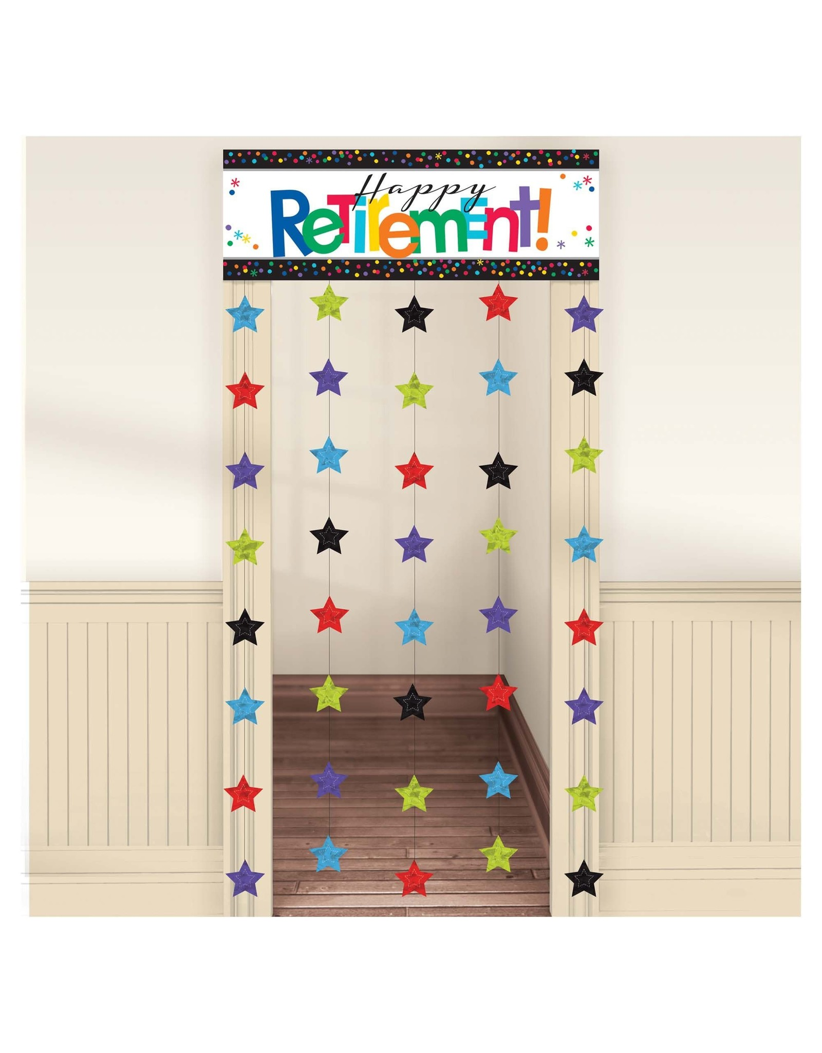 """Amscan Officially Retired Doorway Curtain - 39"""" x 77"""""""