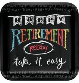 "PPART Retirement Chalk 9"" Dinner Plate - 8ct."
