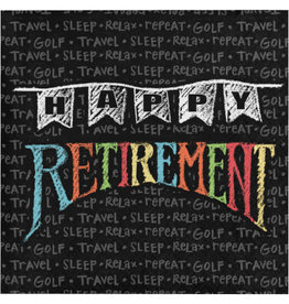 creative converting Retirement Chalk Bev. Napkins - 16ct.