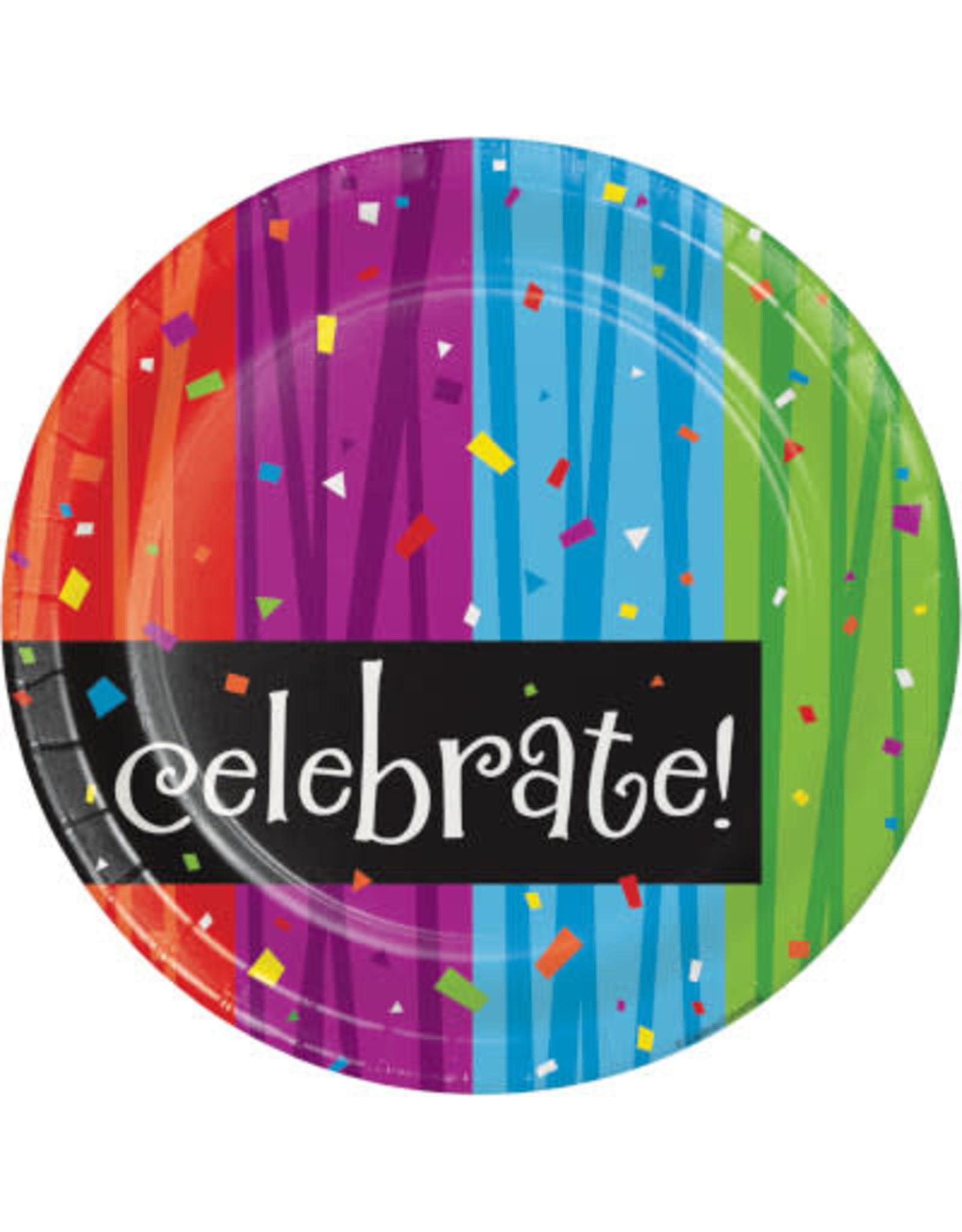 "creative converting Milestone Celebrations 7"" Plates - 8ct."