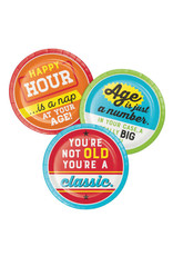 "creative converting Age Humor Asst. Sayings 7"" Plates - 8ct."
