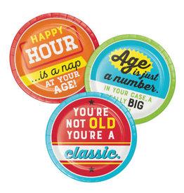 "creative converting Age Humor Asst. Sayings 7"" Plates - 8ct."