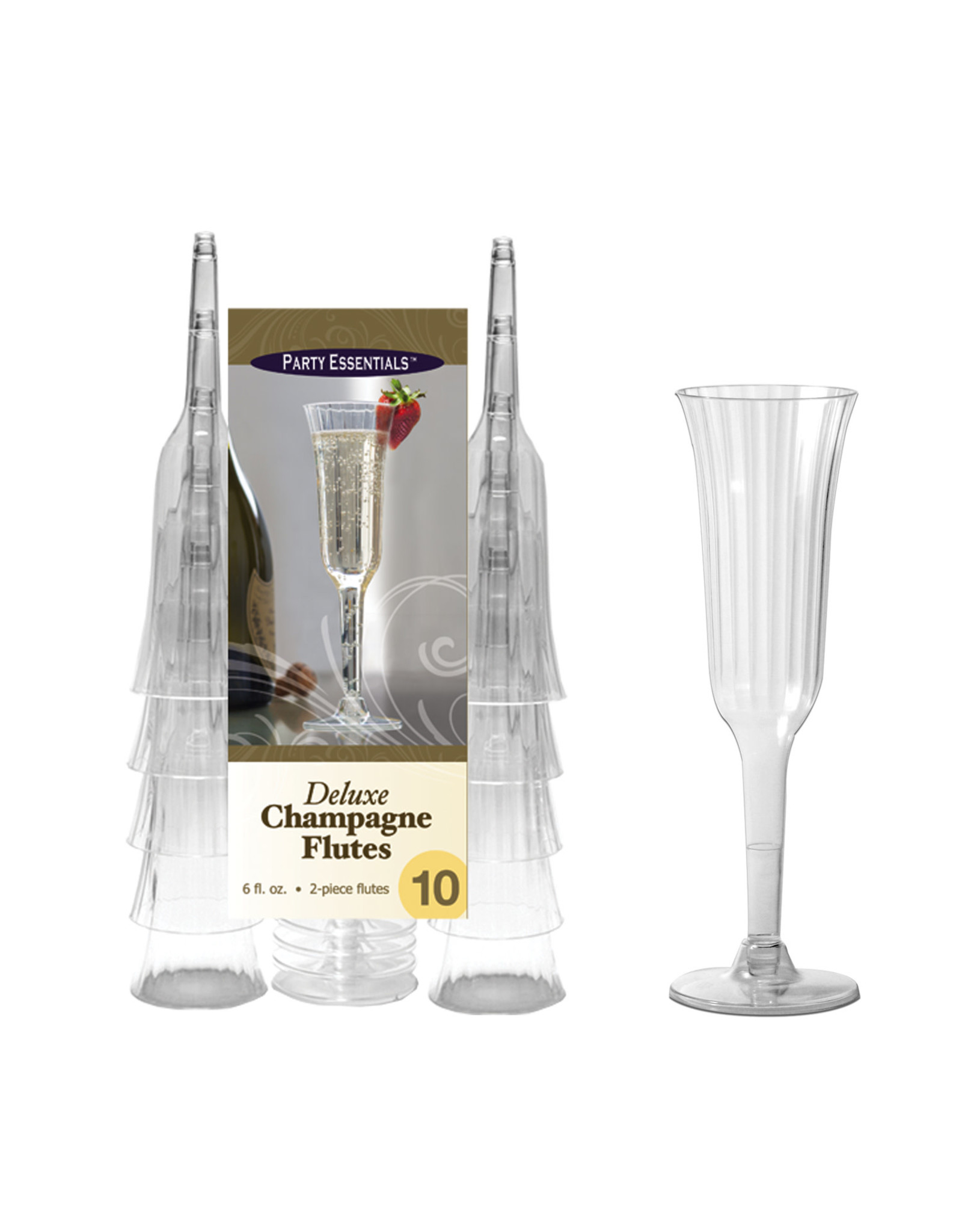 Party Essentials Deluxe Champagne Flutes - 10ct.