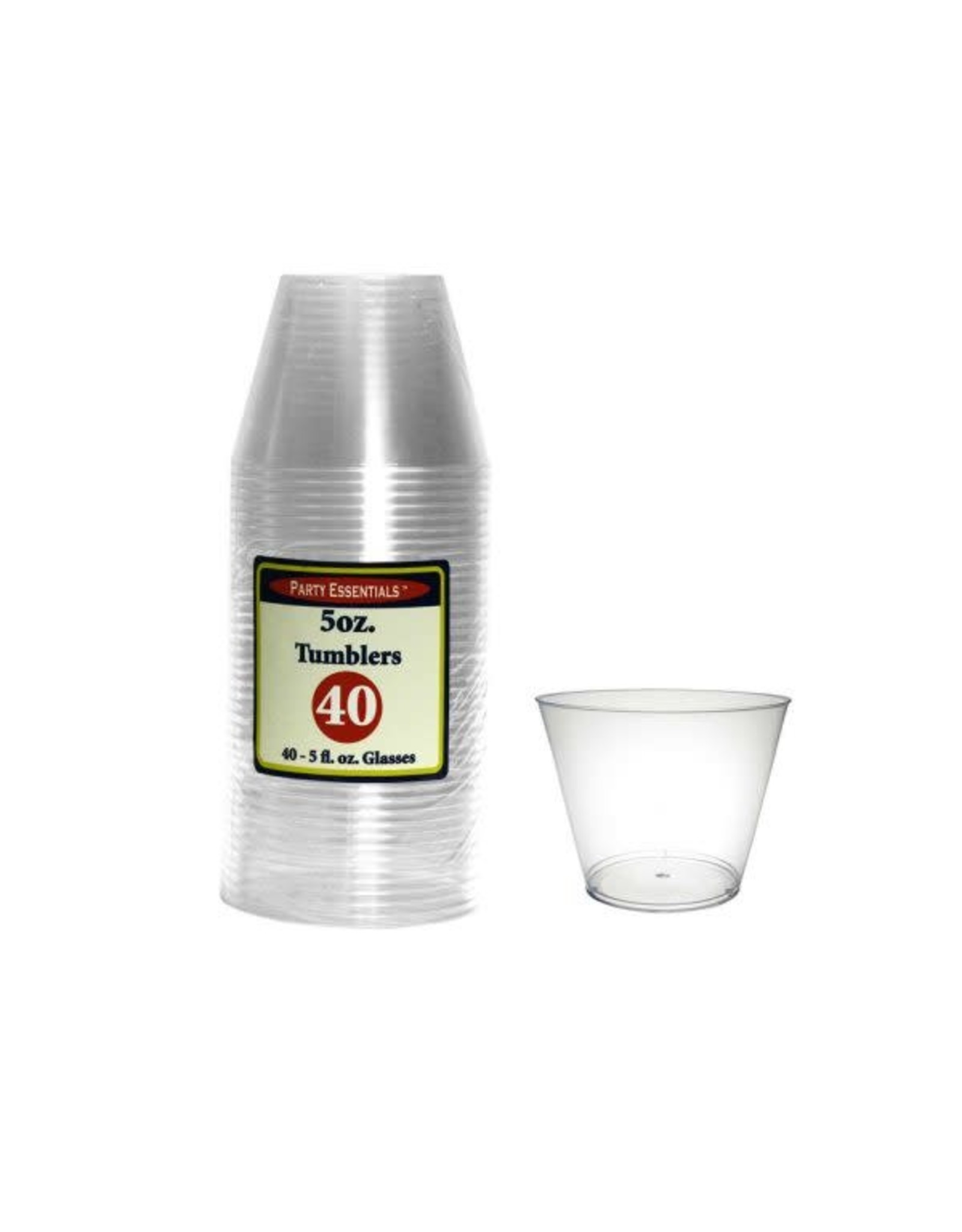 Party Essentials 5oz Clear Tumbler - 40ct.