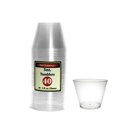 Party Essentials 5oz Clear Tumbler - 40ct.