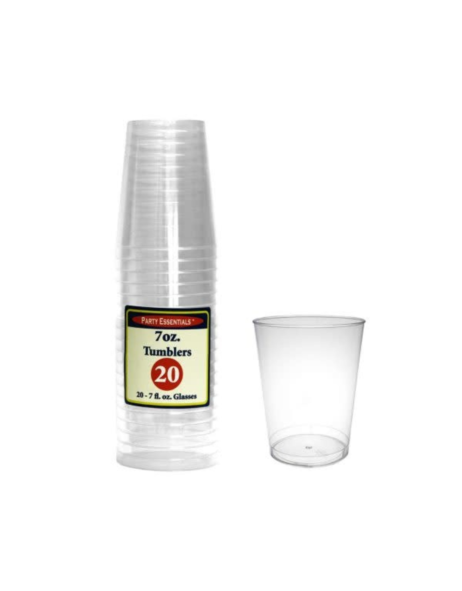 Party Essentials 7 oz. Tumblers Clear - 20 Ct.