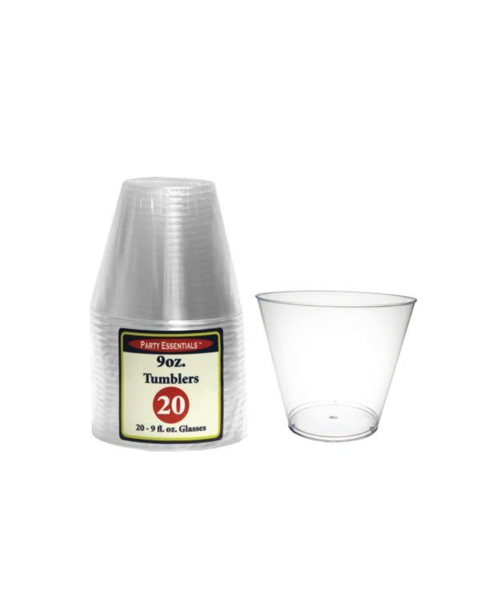 Party Essentials 9 oz. Tumblers - Clear 20 Ct.
