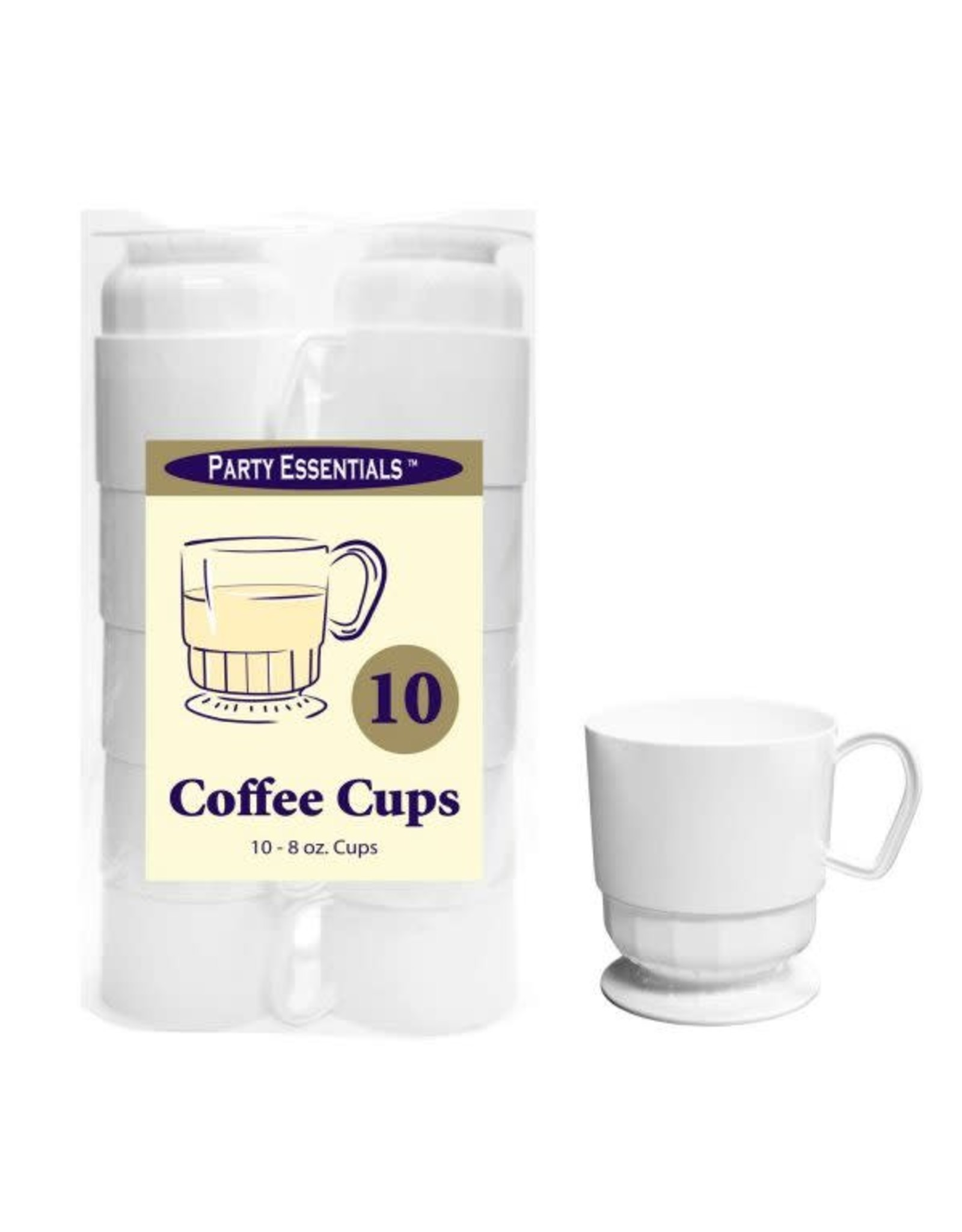 Party Essentials 8 oz. Deluxe Coffee Cups - White 10 Ct.