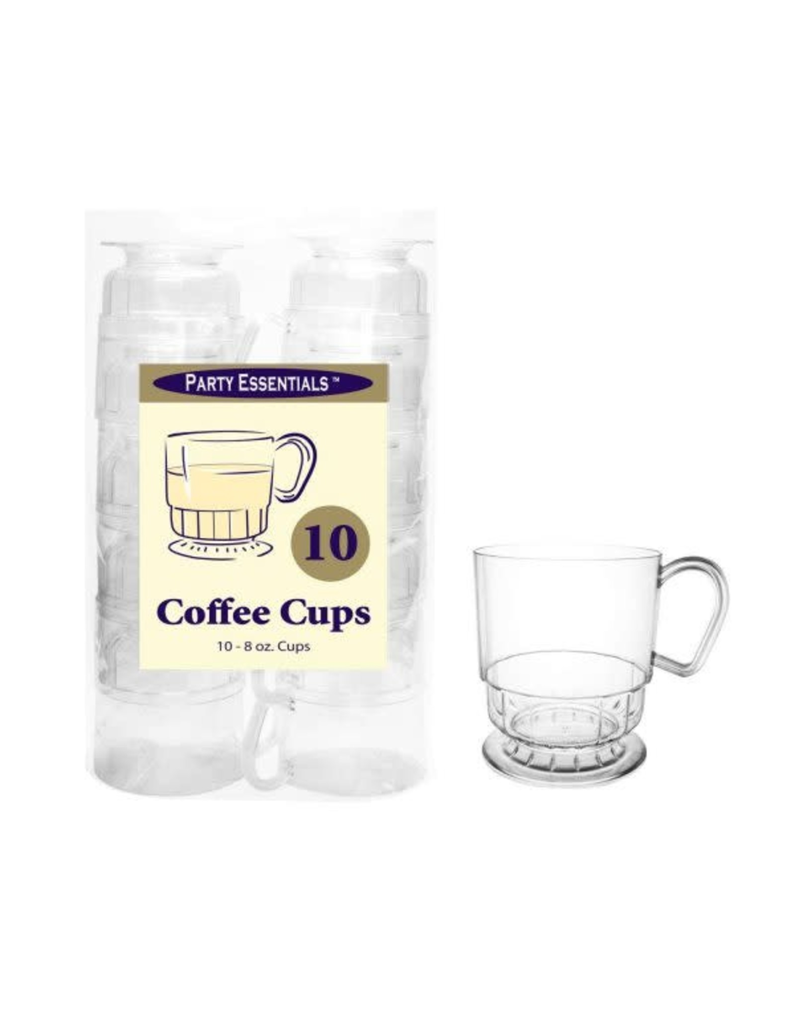 Party Essentials 8 oz. Clear Deluxe Coffee Cups - 10 Ct.