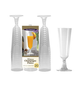 Party Essentials 5.5oz. Clear 2 pc. Mimosa Flutes - 20 Ct.