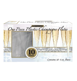 Party Essentials 5 oz. 1 pc. Champagne Flutes Box Set - Clear 10 Ct.