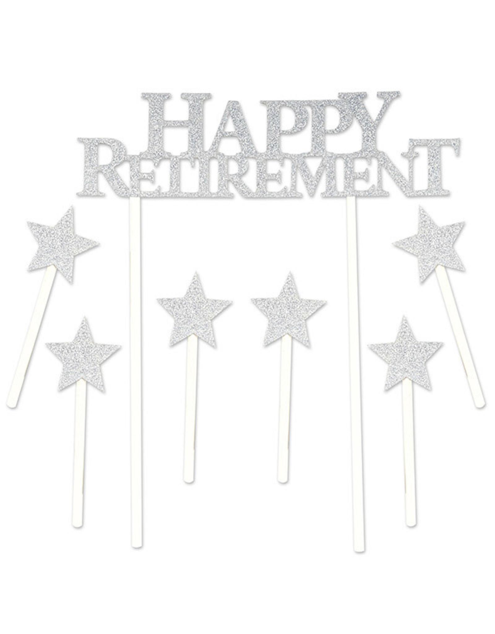 Beistle Happy Retirement Cake Topper