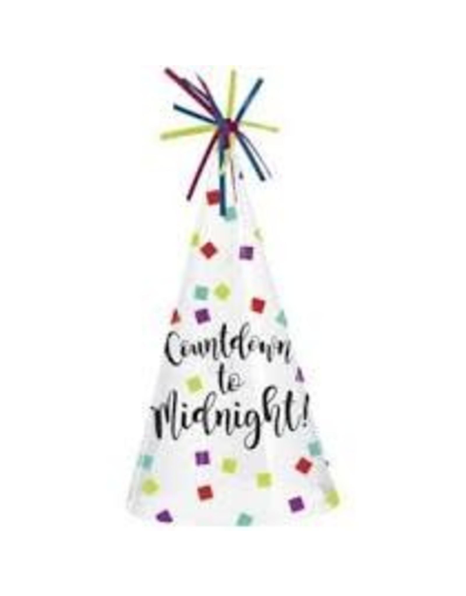 Amscan Clear Countdown to Midnight Hat - 1ct.