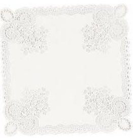 "Amscan White Square 10.5"" Doilies - 20ct."