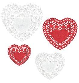 Amscan Heart Shaped Doilies Asst. Sizes & Colors - 40ct