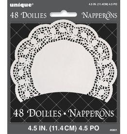 """unique White 4.5"""" Doilies - 48ct."""