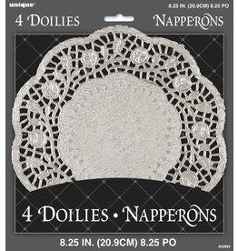 """unique Silver 8.25"""" Doilies - 4ct"""