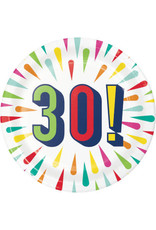 "Party Creations Birthday Burst 30th 7"" Plates - 8ct."