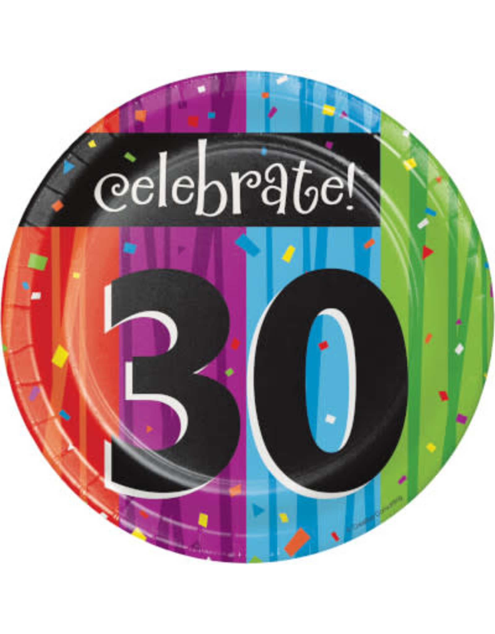 "creative converting Milestone Celebration 30th 7"" Plate - 8ct."