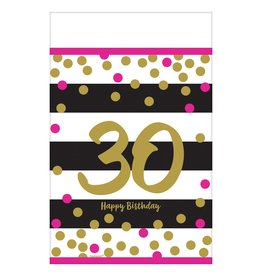 Amscan Pink & Gold 30th Tablecover